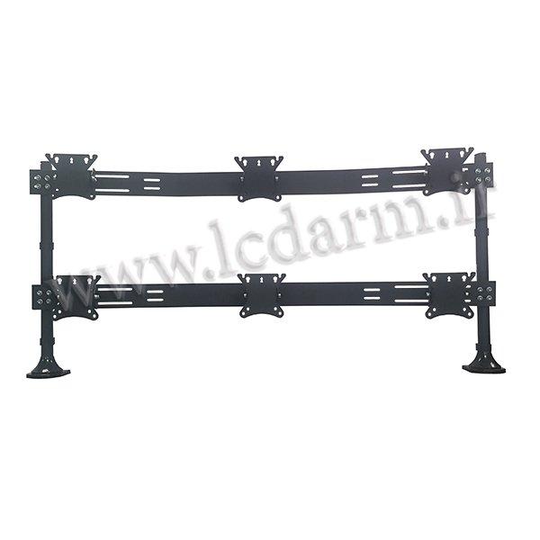 پایه رومیزی مانیتور LED/LCD چند تصویری LD-A6 پایه مانیتور ال سی دی فروش پایه 9 مانیتور همزمان نگهدارنده بازویی قیمت مناسب