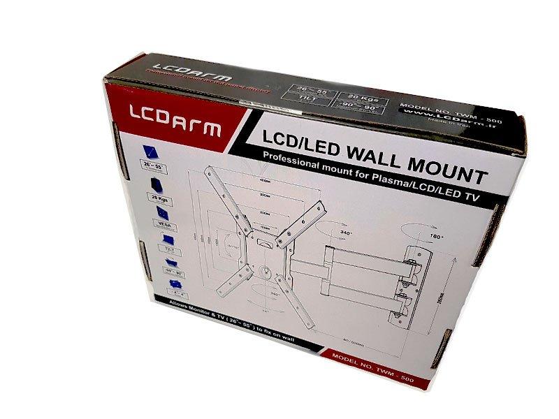 پایه دیواری تلویزیون (بازویی) مدل TWM-500 طریقه نصب براکت متحرک مرکز فروش در تهران