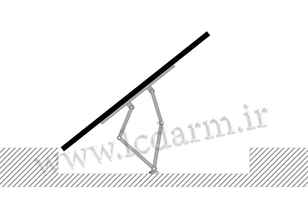 پایه دیواری تلویزیون تمام جهات مدل TWM-475 براکت تلویزیون از کجا بخرم تولید براکت دیواری بازویی ال سی دی متحرک