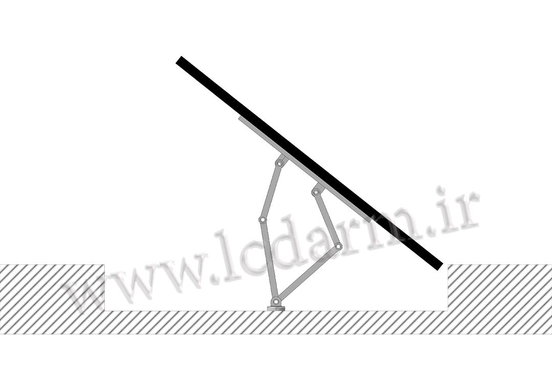 پایه دیواری تلویزیون تمام جهات مدل TWM-475 براکت دیواری بازویی متحرک ال سی دی سامسونگ ال جی سونی ارزان
