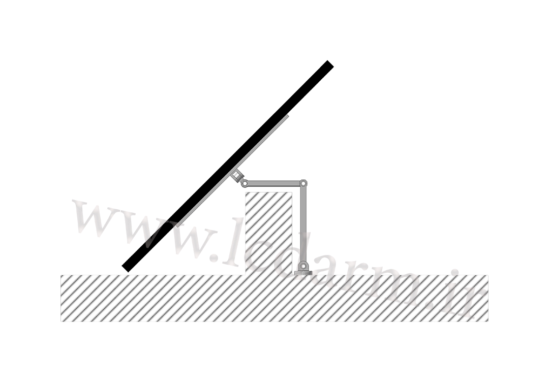 پایه دیواری تلویزیون (بازویی) مدل TWM-500 براکت دیواری ال ای دی متحرک هیدرولیکی سونی سامسونگ ال جی