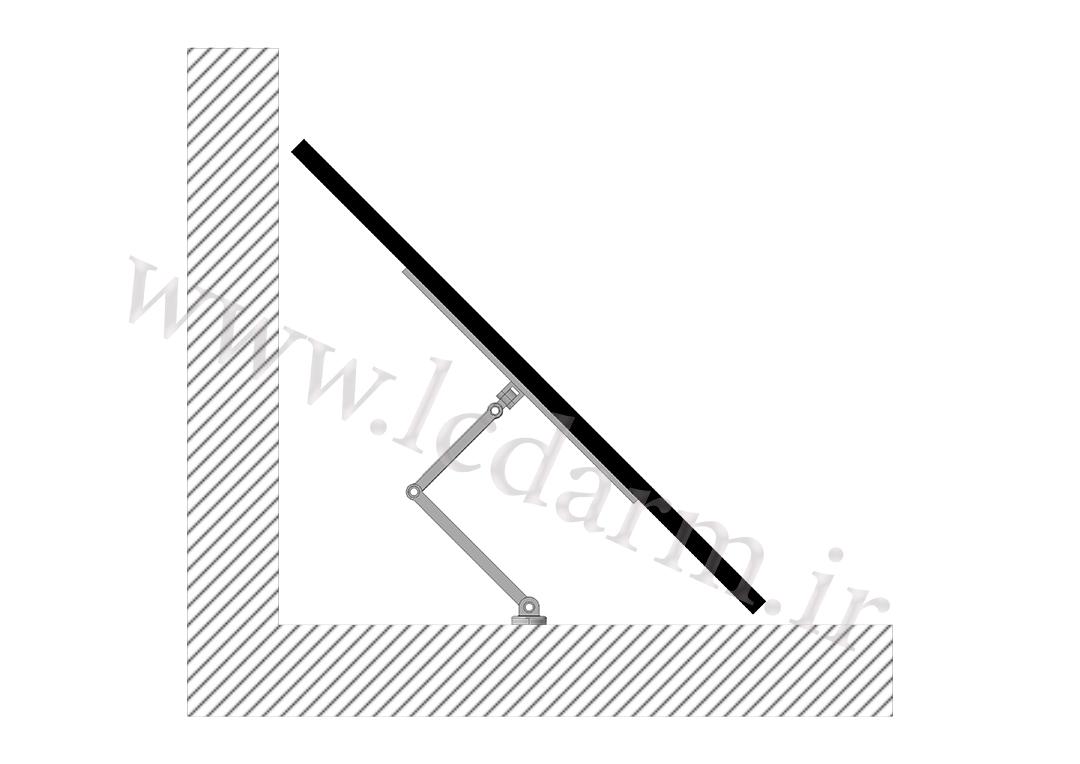 پایه دیواری تلویزیون (بازویی) مدل TWM-500 تولید براکت دیواری ال سی دی سامسونگ ایکس ویژن ال جی سونی آموزش نصب براکت روی دیوار خرید پایه تلویزیون