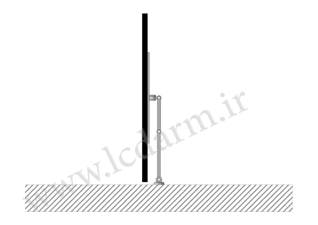 پایه دیواری تلویزیون (بازویی) مدل TWM-500 قیمت خرید پایه دیواری تلویزیون با ارتفاع استاندارد براکت دیواری