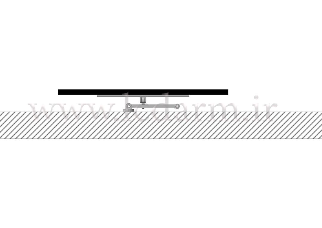 پایه دیواری تلویزیون (بازویی) مدل TWM-500 آموزش نصب براکت دیواری ال ای دی لیست قیمت خرید پایه تلویزیون روی دیوار