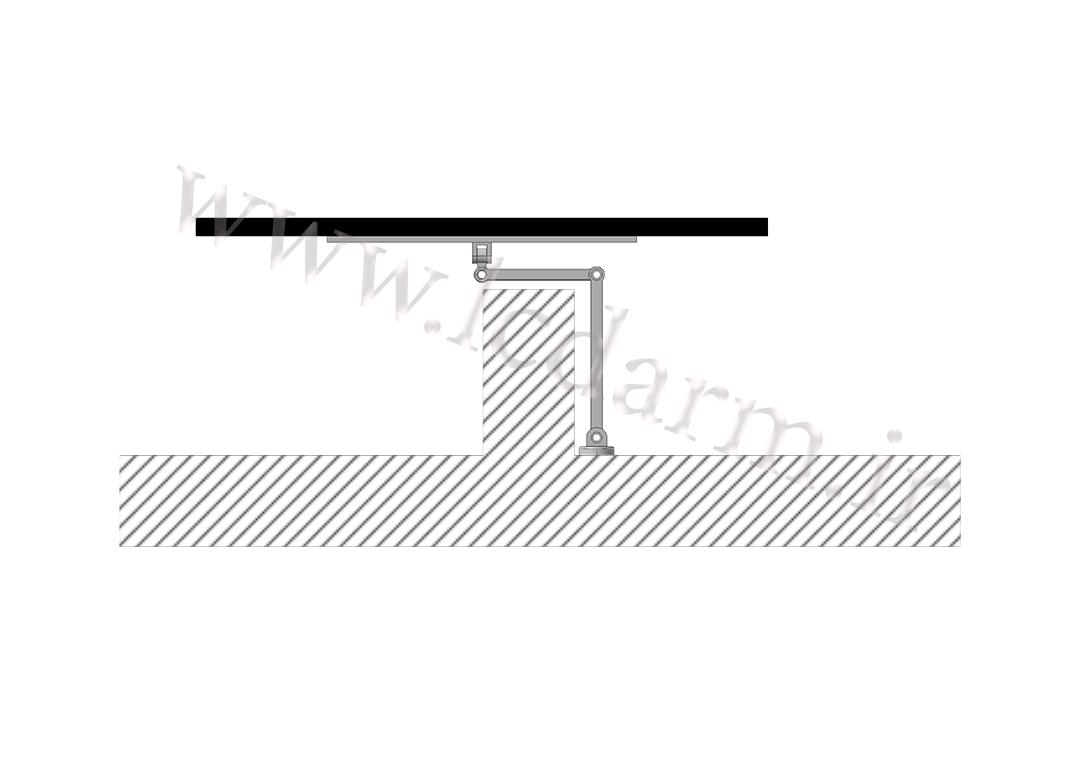 پایه دیواری تلویزیون (بازویی) مدل TWM-500 براکت دیواری ال سی دی متحرک تمام جهات بازویی هیدرولیکی قیمت فروش پایه دیواری تلویزیون