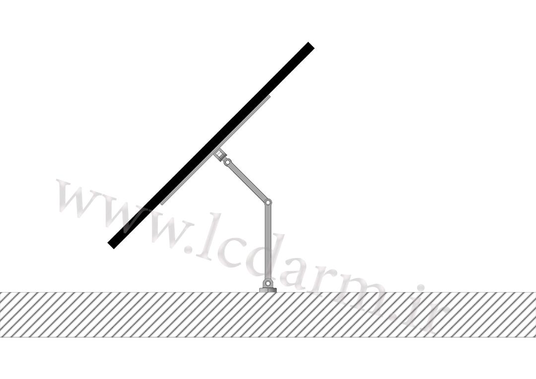 پایه دیواری تلویزیون (بازویی) مدل TWM-500 براکت بازویی تلویزیون ال سی دی فروشگاه پایه مانیتور و تلویزیون کارگاه ساخت پایه دیواری تلویزیون