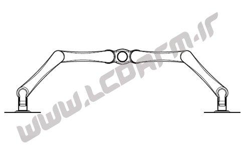 آموزش نصب پایه رومیزی مدل LD-410BD روش اتصال ال سی دی روی میز فروش پایه نگهدارنده مانیتور سازنده پایه رومیزی بازویی هیدرولیکی