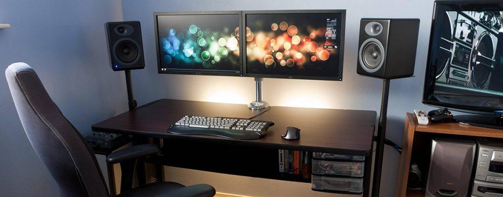 آموزش نصب پایه رومیزی مدل LD-410BD روش نصب نگهدارنده مانیتور کامپیوتر روی میز