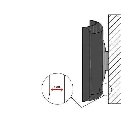 براکت دیواری تلویزیون های منحنی