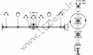 - زاوبه چرخش پایه چند مفصلی مانیتور LD-6