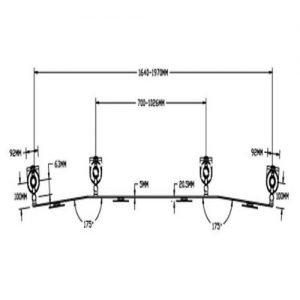 - میزان درجه چرخش پایه چند مفصلی مانیتور LD-A8