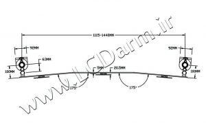 - درجه چرخش پایه دیواری مانیتور LD-A9