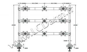 - سایز پایه مانیتور چند مفصلی LD-A9