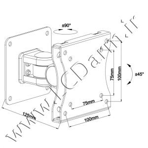 Info-Size_Monitor-Wall-Stand_LW-125