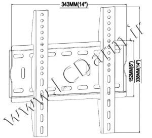 خرید پایه دیواری تلویزیون LCD و LED مدل TW-300 قیمت فروش پایه تلویزیون دیواری کارگاه تولید براکت دیواری تلویزیون