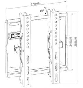 -سایز پایه دیواری تلویزیون متحرک tw-220