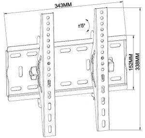 -سایز پایه دیواری تلویزیون مدل TW-305